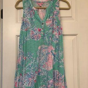 Soft cotton sleeveless dress